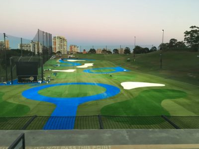 Moore Park Driving Range new surface