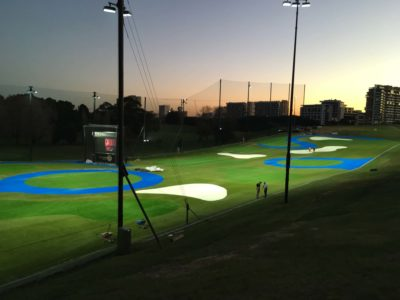 Moore Park Driving Range new synthetic turf
