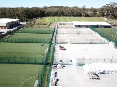 Soccer 5's sport fields Tuggerah construction