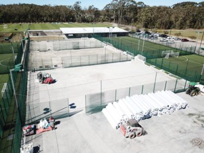 Soccer 5's sport fields construction on Central Coast NSW